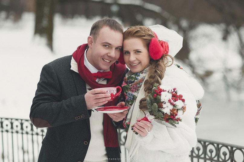 Свадебная фотосессия зимой: идеи, примеры, реквизит