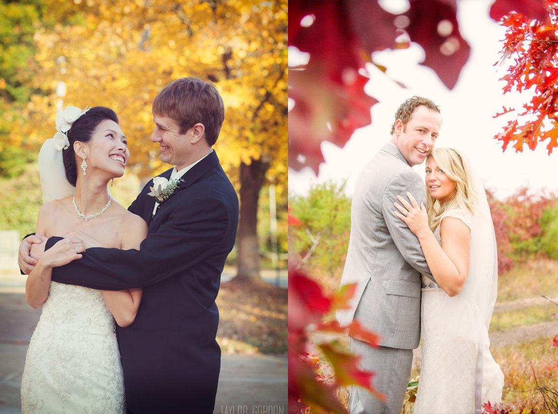 осень, любовь, свадьба