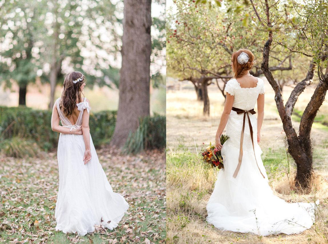 невеста со спины