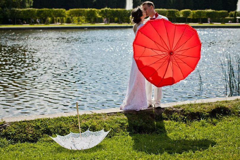 зонт в в виде сердца