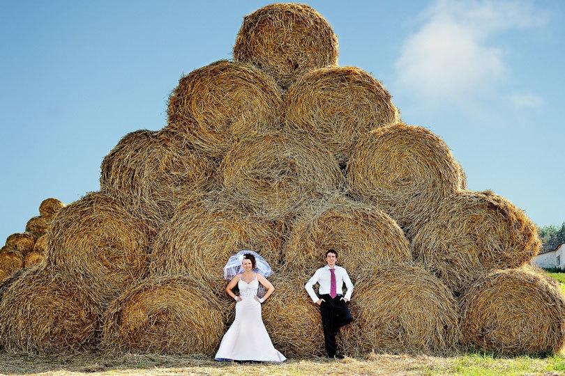 охапки сена свадьба