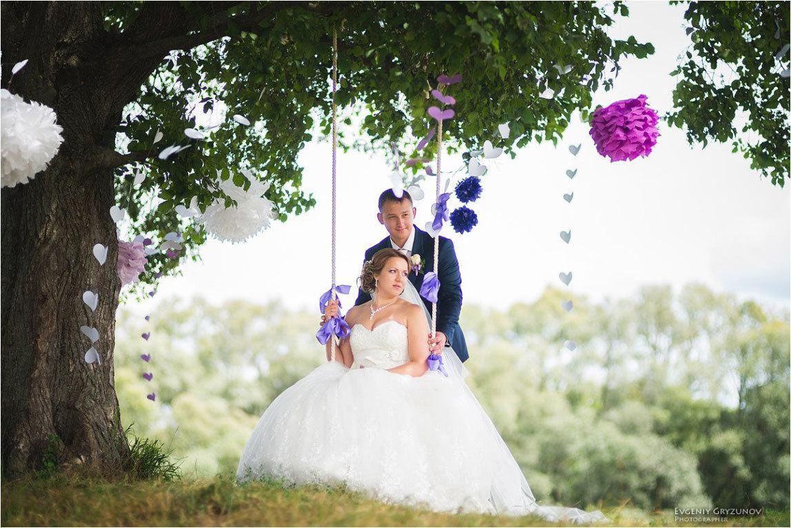 свадьба качели фото